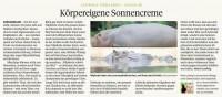 [Foto] Körpereigene Sonnencreme …  Nilpferde
